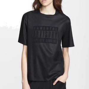Alexander Wang Vinyl Parental Advisory Tee - Crewneck - Sale