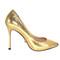 Beautiful heels - gold snakeskin exotic high heels