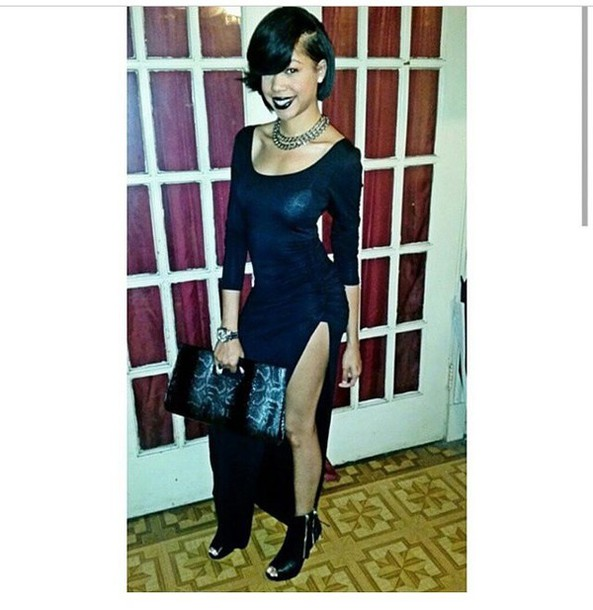 dress black maxi dress chic blogger blogs shopaholic fashionista maxi dress black dress fashion thigh high slit cutout maxi slit maxi shirt dress