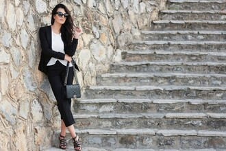 disicouture blogger jacket pants jewels sunglasses