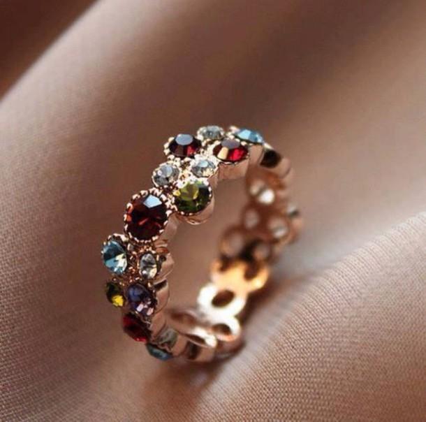 jewels multicolour jewel ring