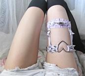 jewels,heart,garter,pastel,studs,pastel goth,belt,socks,goth,grunge