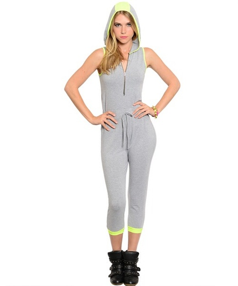 LIGHT GRAY LIME JUMPSUIT