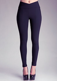 bebe | Contrast Ankle Leggings - Bottoms - All Bottoms