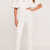White Off Shoulder Ruffles Trim Chic Jumpsuit