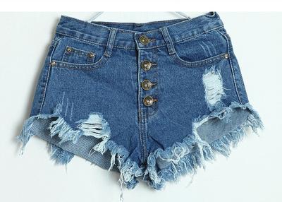 Distressed denim shorts · fashion struck · online store powered by storenvy
