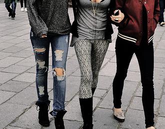 shirt grey girl basic glitter jacket jeans dress