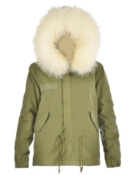 Mr & Mrs Italy parka fur white coat