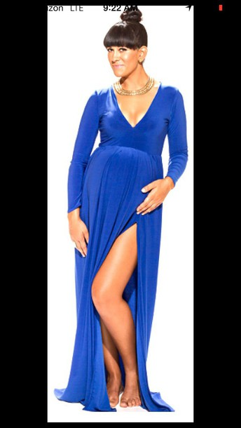 dress royal blue dress maternity maternity dress royal blue