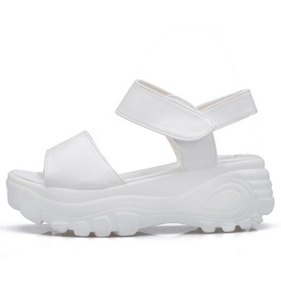 White cyber space platform sandals · sad eyes apparel · online store for cyber babes