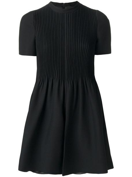 Valentino pleated detail playsuit - Black