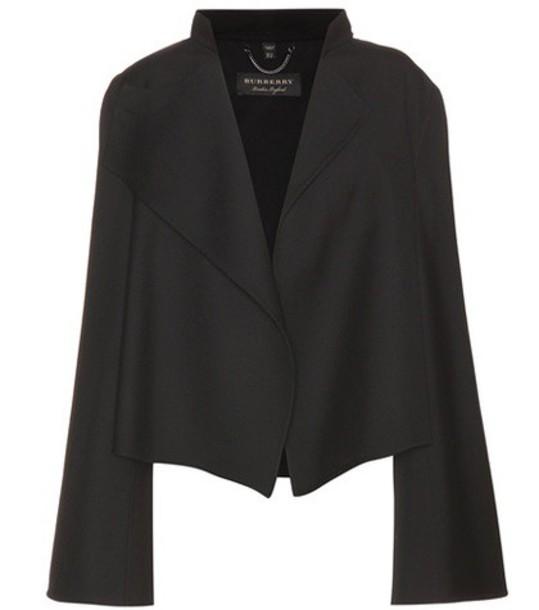 jacket wool jacket cropped wool black