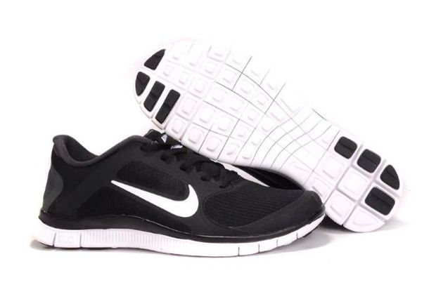 shoes, black, white, tennis shoes, nike running shoes ...