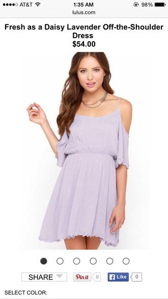 dress purple pastel color pastel dress pastel purple shoulder cut out spring dress