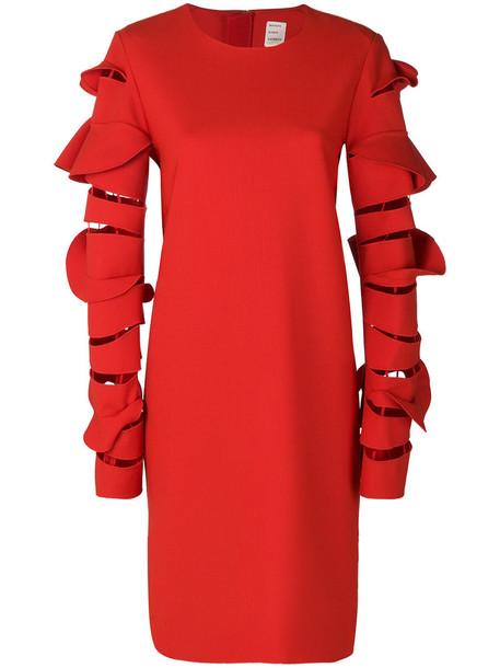 MAISON RABIH KAYROUZ dress women spandex wool red
