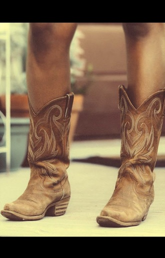 shoes cowgirl boots brown leather boots boots western