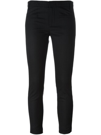 women spandex leather cotton black wool pants