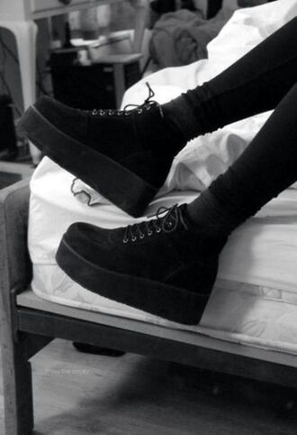 shoes creepers high-top grunge punk