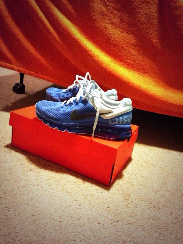 shoes nike air max blue white