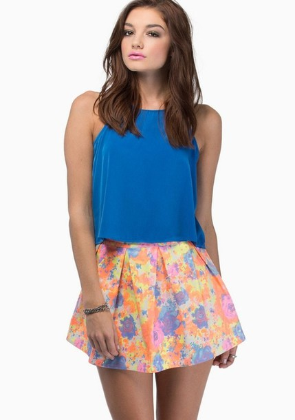 skirt bright summer cute party