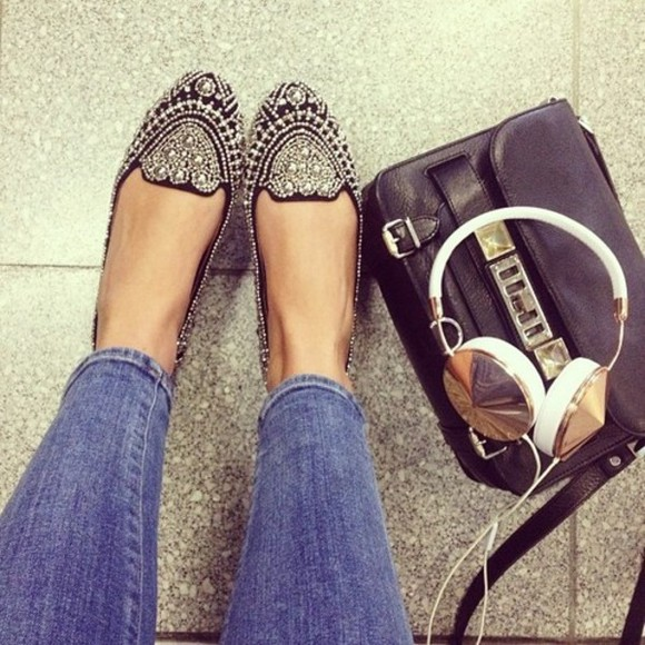 shoes ballerine glitter shoes beautiful stylish shoes high heels flats gemstone black glitter
