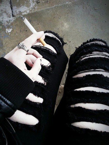 jeans gothic pants goth ripped jeans