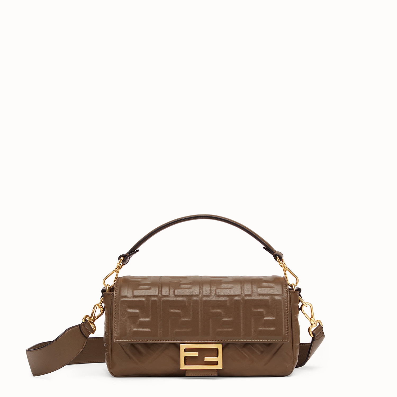 Brown nappa leather bag - BAGUETTE | Fendi