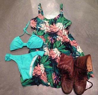 dress style turquoise floral dress floral swimwear summer dress summer top maxi dress maxi maxi skirt swimwear bikini bikini bottoms bikini top tropical skirt