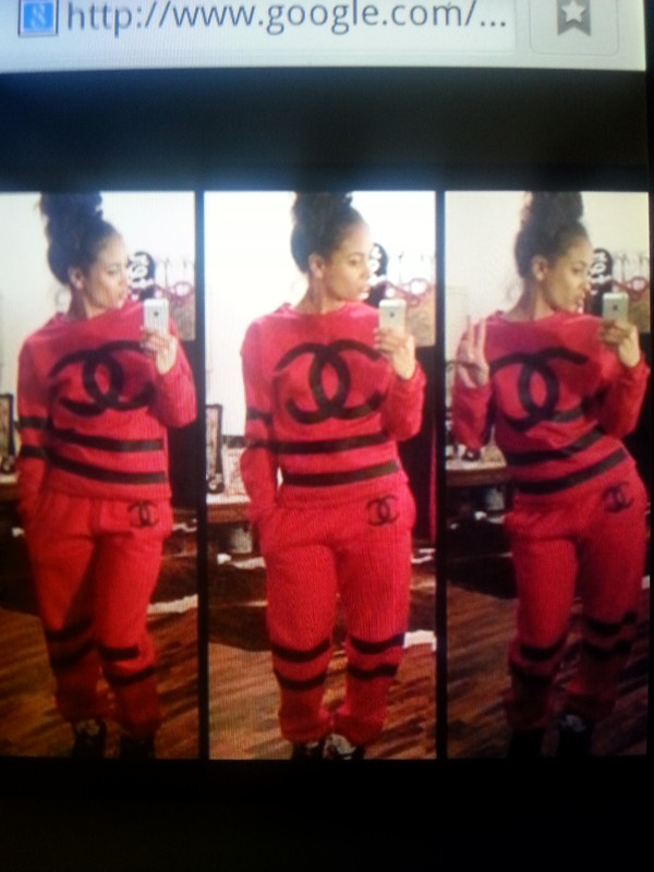 sweater red chanel