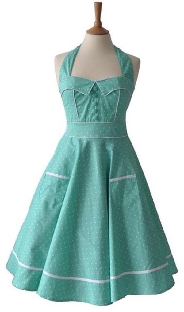 Dress Blue Dress Light Blue Blue Vintage Cute Dress Cute Vintage 50s Style Wheretoget
