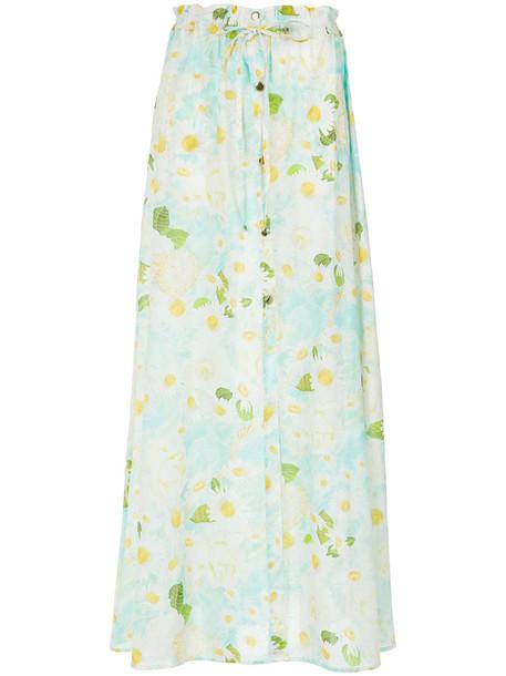 isolda skirt long skirt long women daisy cotton print