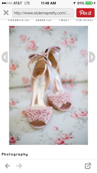 light pink wedding clothes