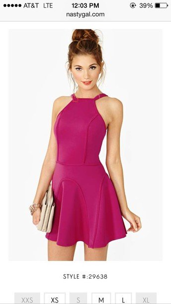 dress pink dress flare