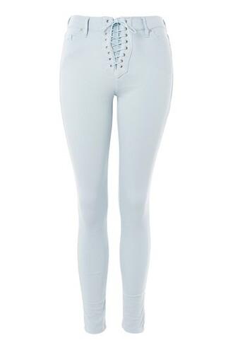 jeans pale lace blue
