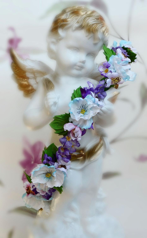 Bridal Wreaths Flower Tiara Bridal Headband Floral Wedding