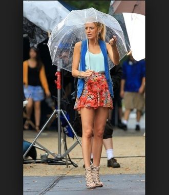 tank top serena van der woodsen blake lively skirt