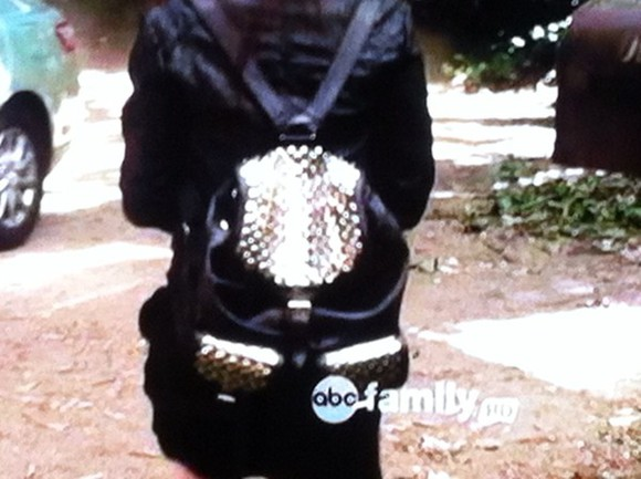 pretty little liars bag aria arias bag backpack gold and black black and gold pll bag leather backpack