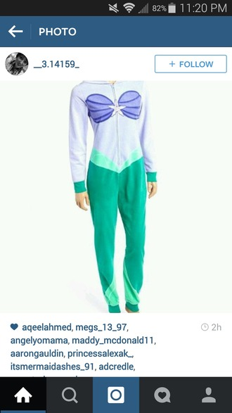 jumpsuit disney disney princess little mermaid ariel