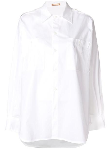 Nehera blouse women white cotton top
