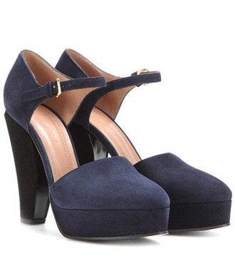 suede pumps pumps suede blue shoes