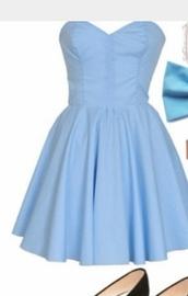 dress,bleu,blue dress,bustier,cute dress,robe