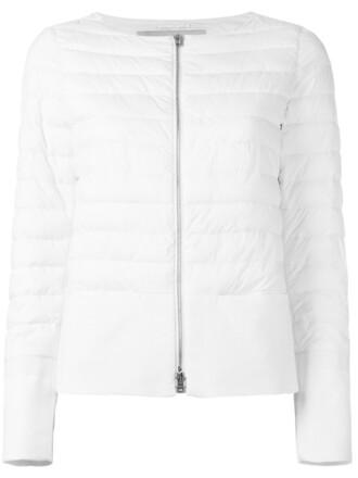 jacket puffer jacket women white cotton