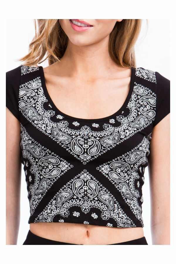 blouse bandana print