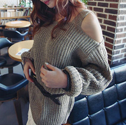 The suspender knit sweater