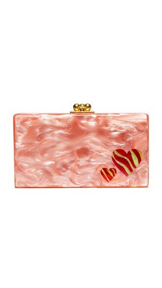 zebra clutch pink bag