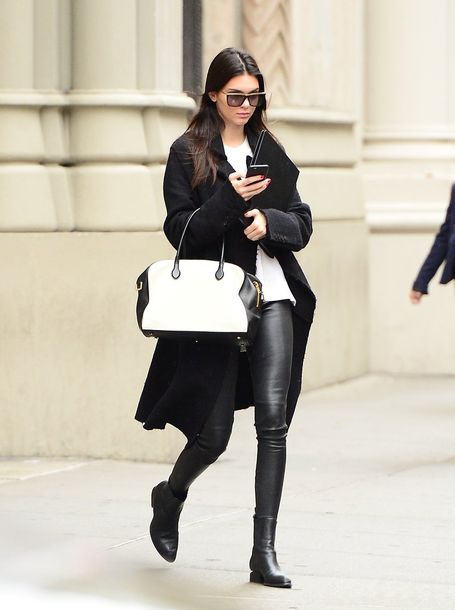 Pants: kendall jenner, celebrity style, celebrity, model, leather ...