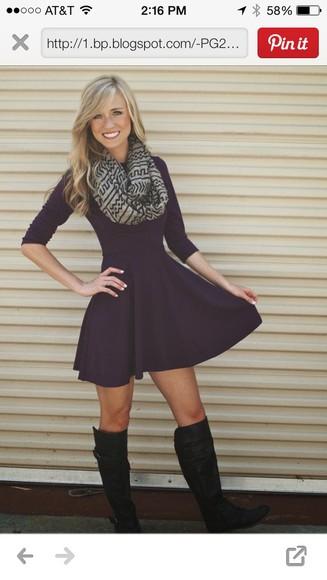 dress long sleeve dress cute dress fashion fall dress