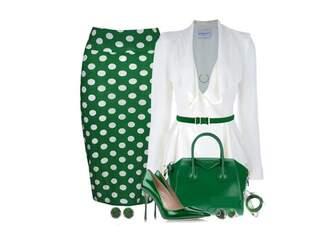 skirt mint green polka-dot dress