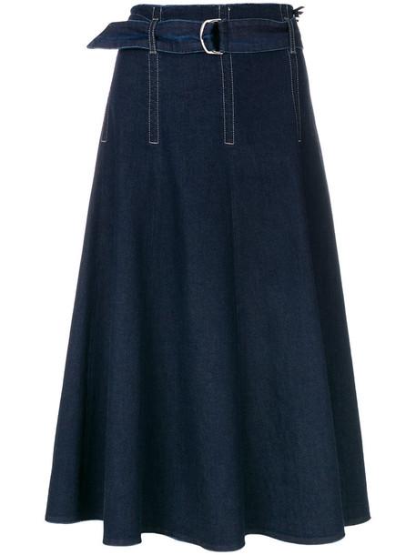 Marc Cain skirt midi skirt denim women midi spandex cotton blue
