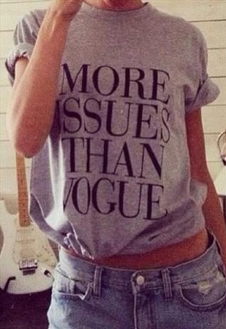 t-shirt more issues than vogue